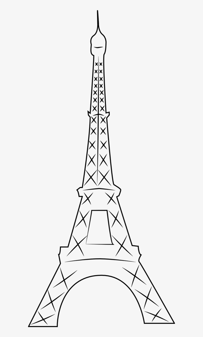 Eiffel tower drawing gold transparent eiffel tower