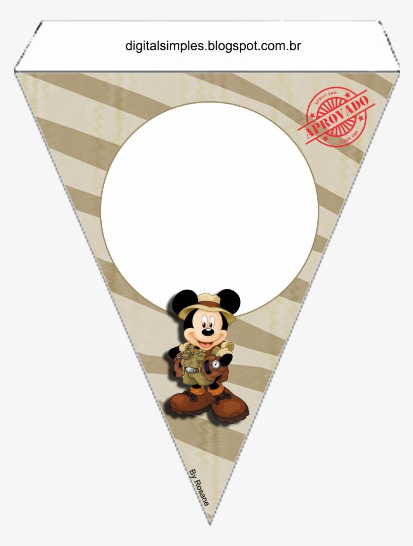 Mickey Y Minnie De Safari Free Printable Bunting Bandeirola