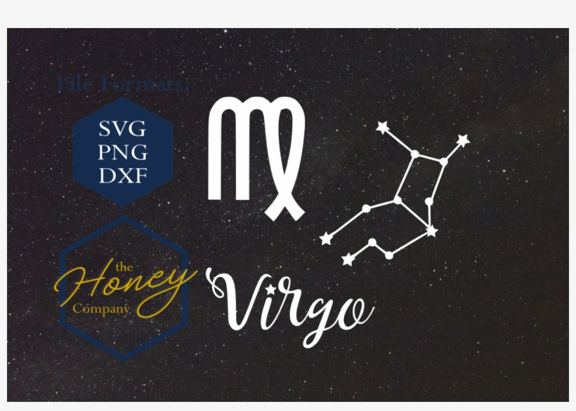 Virgo Svg Png Dxf Zodiac Cutting File Vector Download - Vector Graphics, transparent png #886101