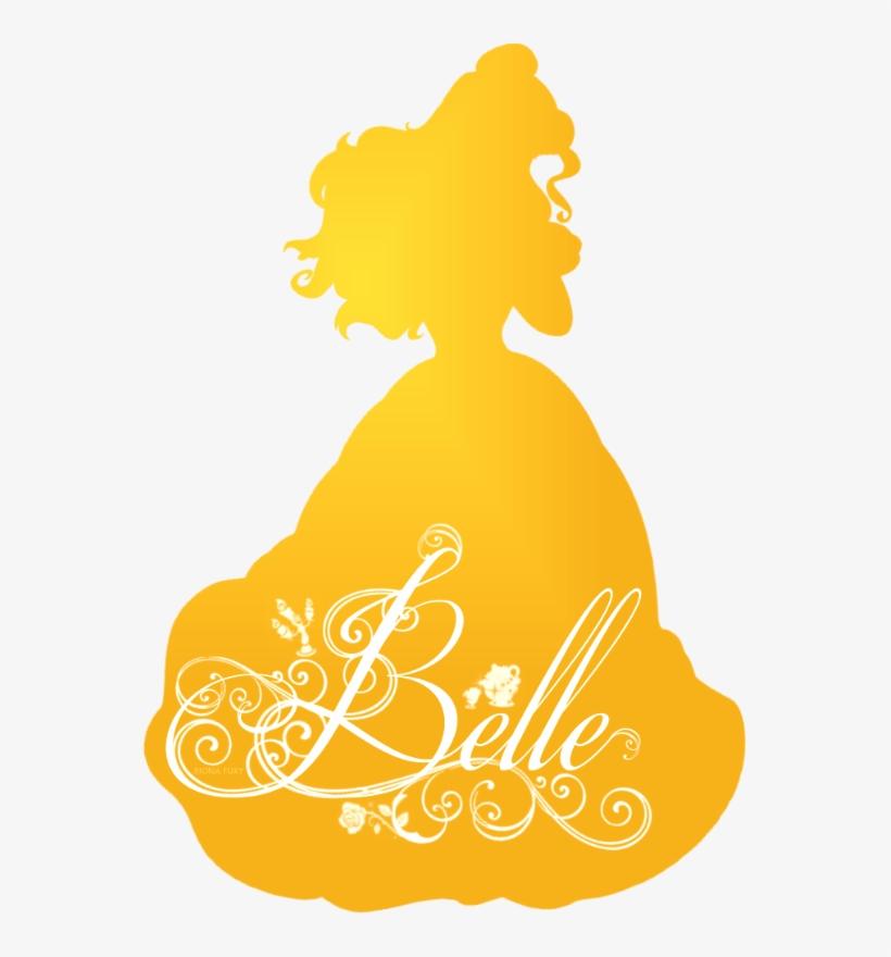 Disney Princess Belle Silhouette, transparent png #886324