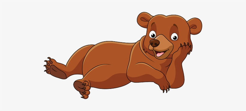 Clip Art Library Baby Bears Animal Pictures Laying - Cartoon Bear Laying Down, transparent png #886413