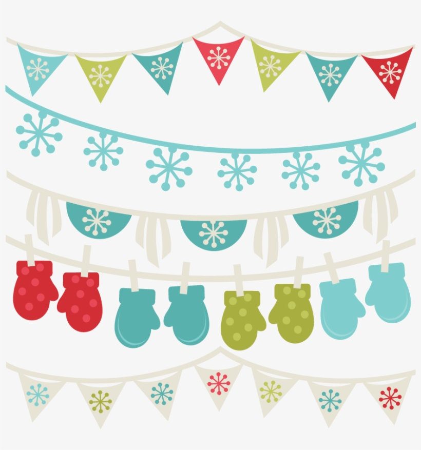 Png Freeuse Download Free Winter Borders Banners Svg - Clipart Winter Banners, transparent png #886547