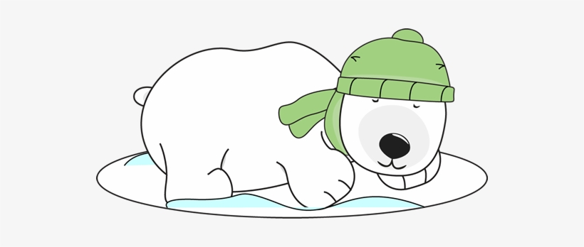 Jpg Free Collection Of Cute High Quality Sleeping - Winter Polar Bear Clipart, transparent png #886595