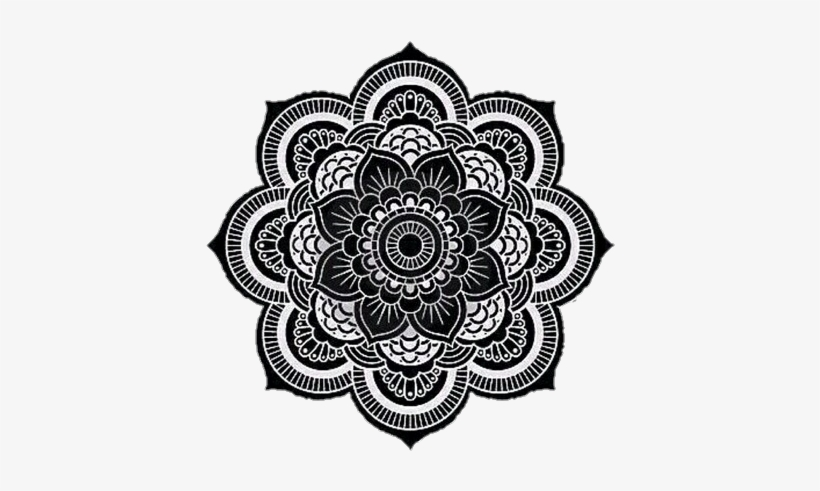 Mandala Png Tumblr Mandala White On Black Free Transparent Png