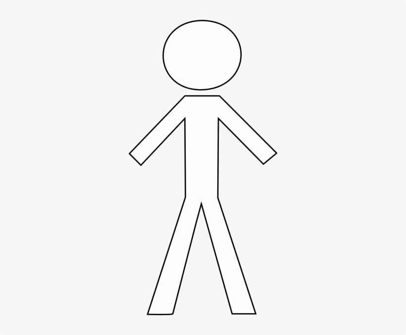 Image Transparent Library Stick Figure Png For Free - Black And White Stick Figures, transparent png #887503