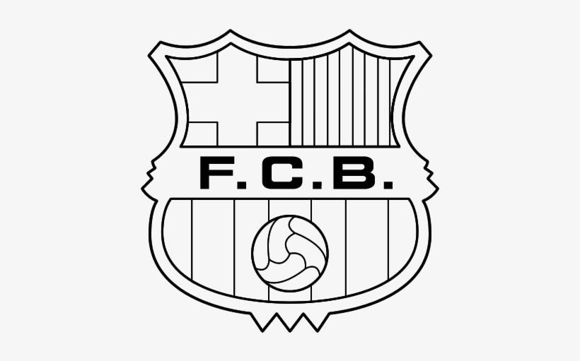 Neymar Drawing Coloring Page - Escudo Barcelona Para Colorir, transparent png #889243