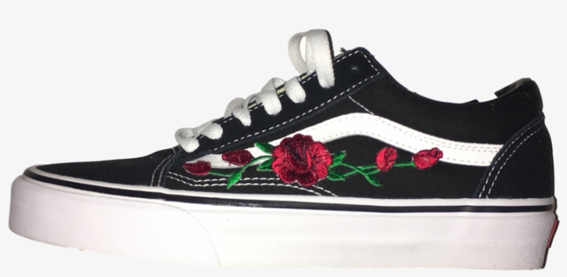 e876442ca84f Vans Shoes Png Jpg Black And White Stock - Vans With Roses White ...