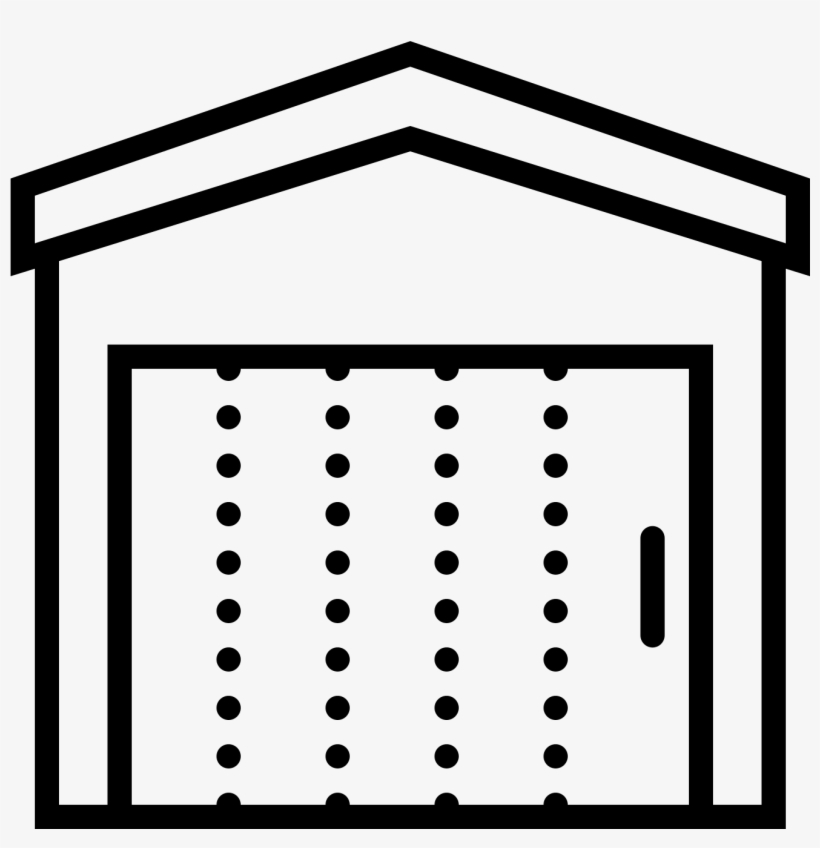Door Clipart Rectangle Shape - Garage Door, transparent png #889651