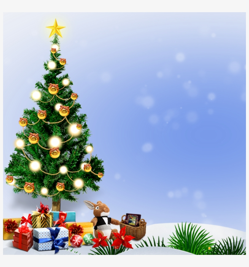 Santa Claus Tree Father - Christmas Tree Poster Background, transparent png #8800838
