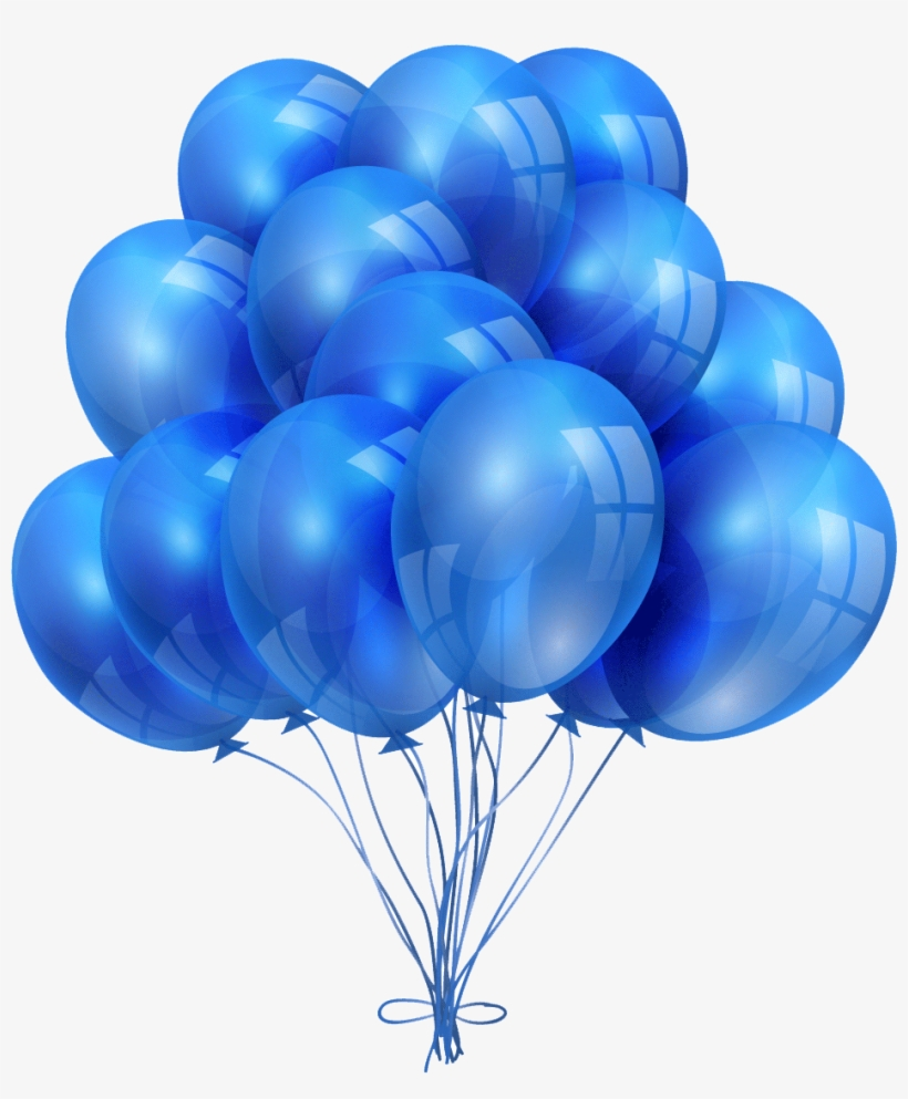 More Like A Family, All The Clients Have Always Been - Happy Birthday Gold And Blue Balloons, transparent png #8818746