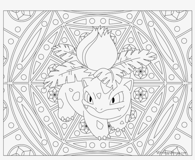 Black And White Coloring Pages For Adults Transparent - Adult Pokemon Coloring Pages, transparent png #8822051