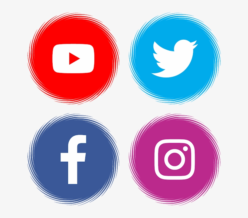 Download Youtube Facebook Twitter Instagram Svg Eps - Facebook Twitter Whatsapp Instagram, transparent png #8826211