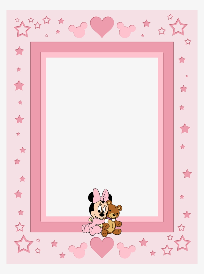 Filler Card/photo Frame - Baby Minnie Mouse Frame, transparent png #8875381