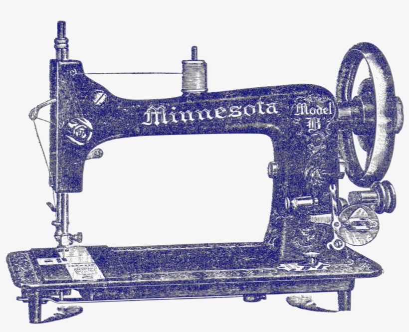 Sewing Machine Clipart Vintage Needle Thread - Sewing Machine Png Vintage, transparent png #8881822
