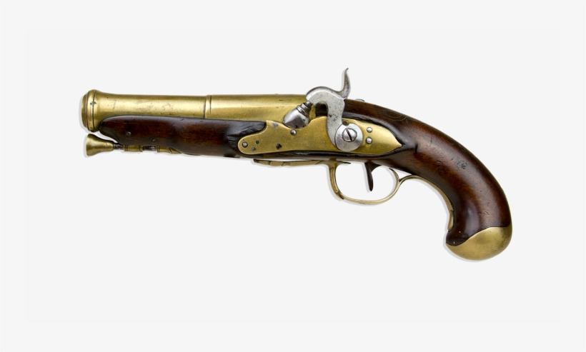 French Musket Bore Percussion Left Handed Lock 'marine' - Firearm, transparent png #8883066
