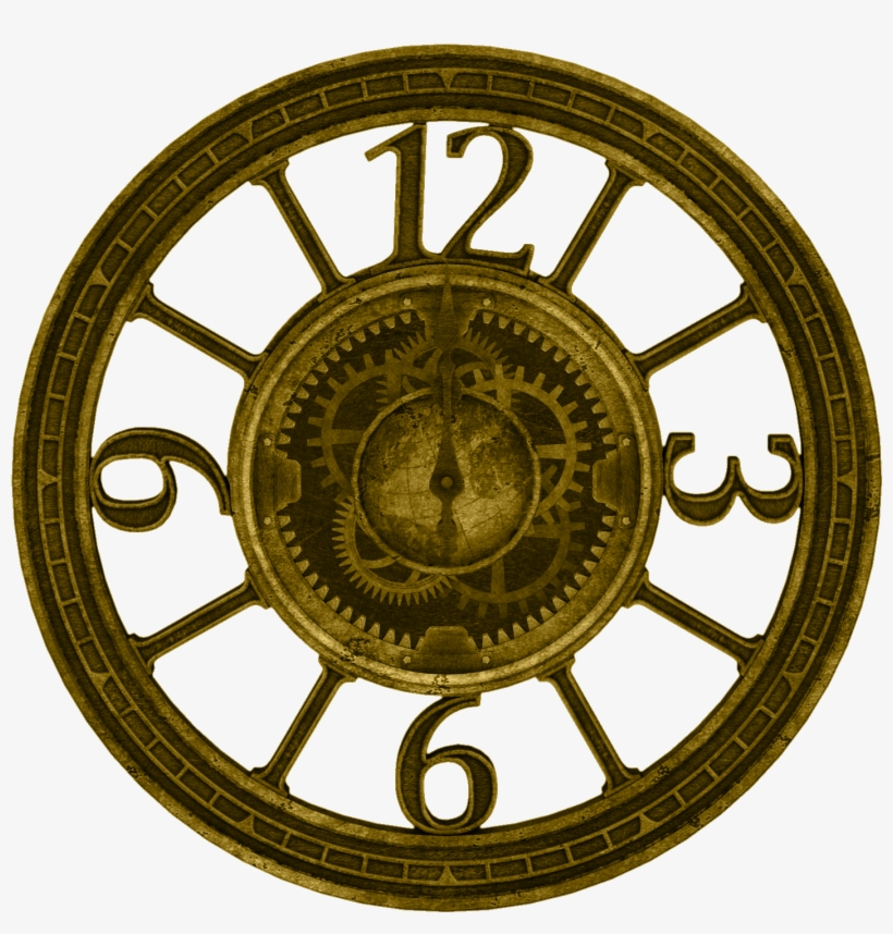 There's An Abundance Of Clocks, Gears, Clusters And - Steampunk Clock Face Png, transparent png #8888473