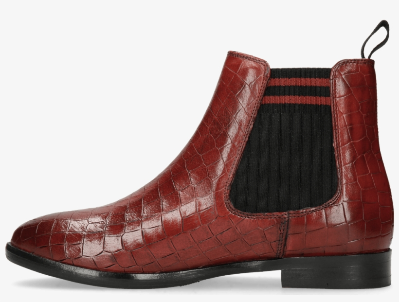 Ankle Boots Daisy 6 Ruby Elastic Lines Red Chelsea Boot