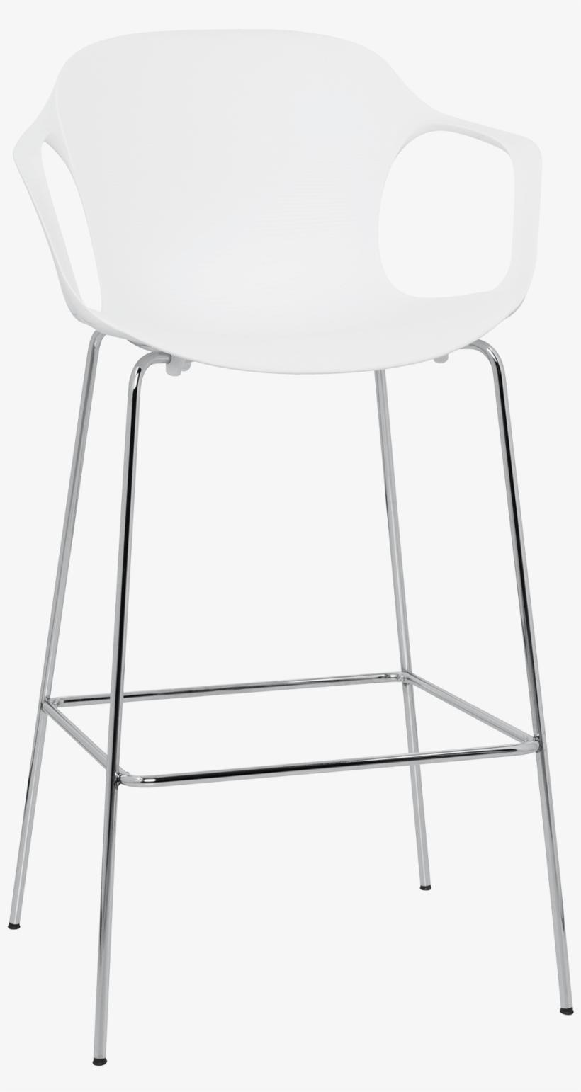 Nap Bar Stool Kasper Salto Milk White Chrome Steel - Chair, transparent png #8894472