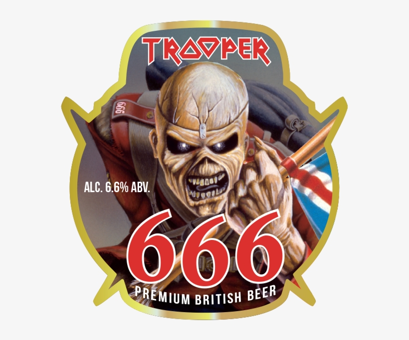Iron Maiden Release 666 Beer To Celebrate Selling 10 - 666 Iron Maiden Beer, transparent png #892796