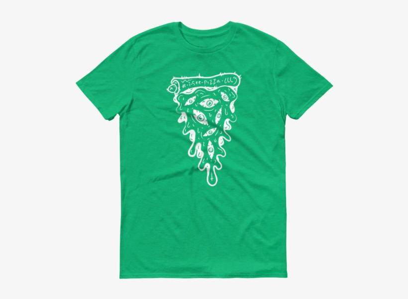 I See Pizza 666 Mono Tshirt - T-shirt, transparent png #893178