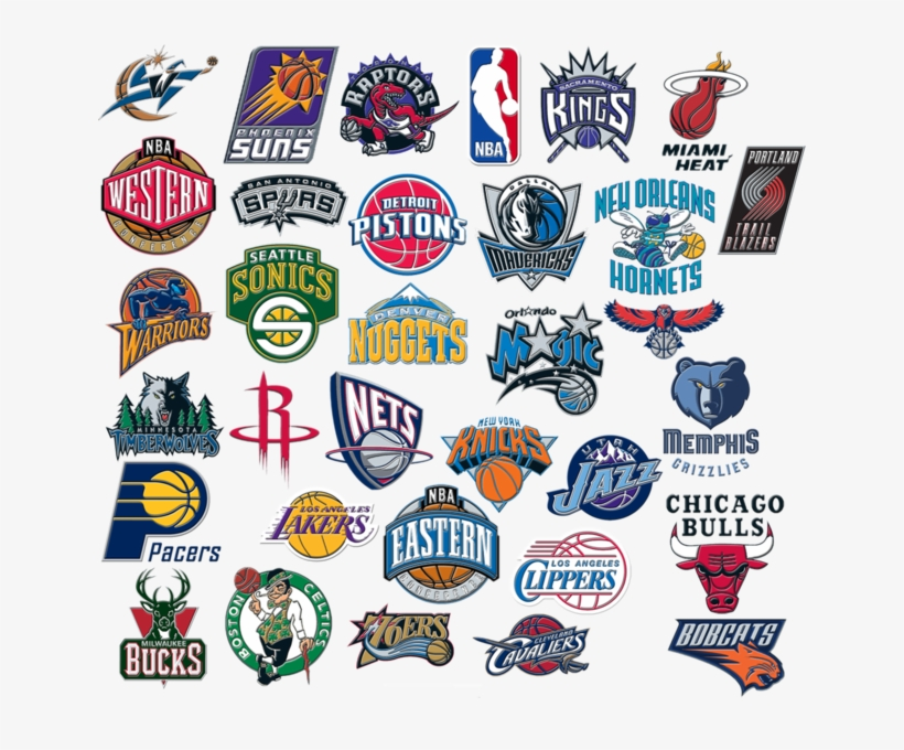 Nba Logo Compilation Official Nba Team Logo Png Free