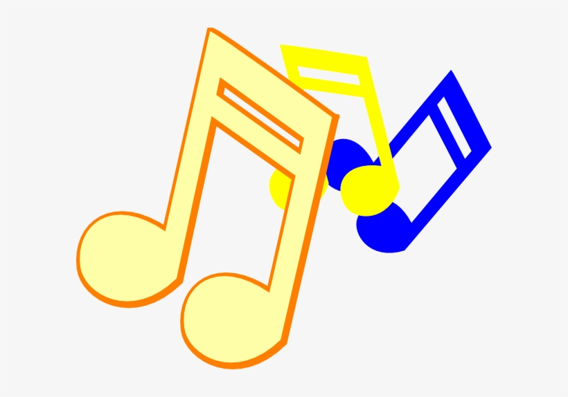 Colorful Music Notes On A Staff Png - Music Notes Clip Art, transparent png #894120