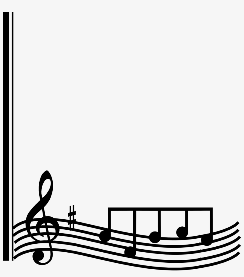 Music Notes - Music Clip Art Free Borders, transparent png #894485