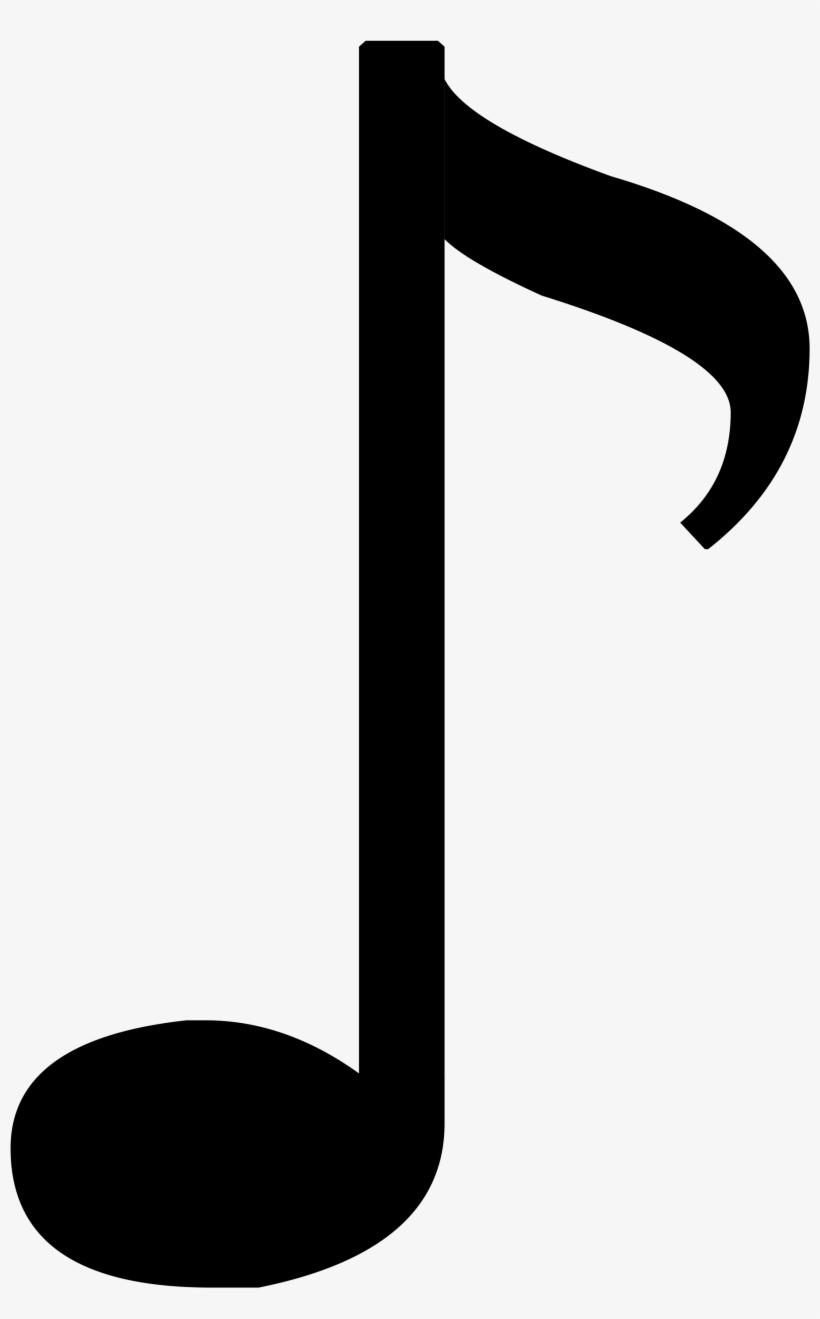 Music Notes Clipart Quavers - 1 8 Music Note, transparent png #894750