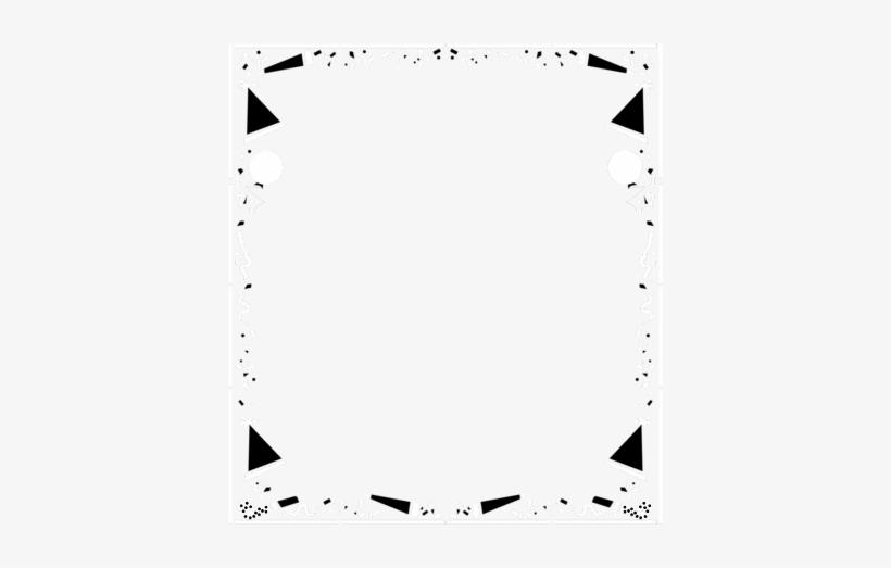 Confetti Clipart Page Border - Black And White Party