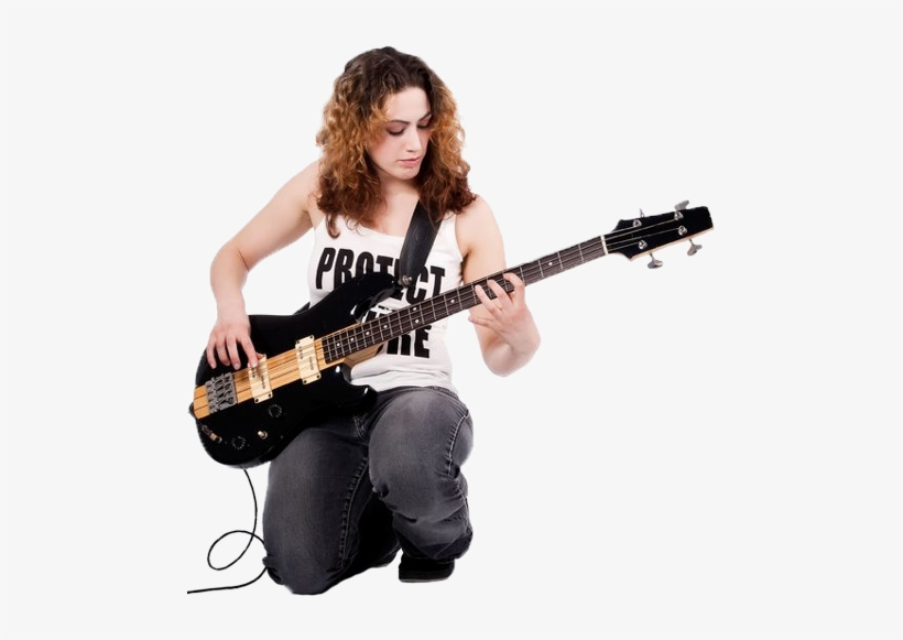 Girl Playing Bass Guitar Girl With Guitar Png Free Transparent Png Download Pngkey