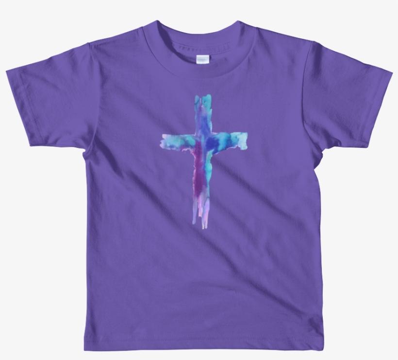Watercolor Cross Short Sleeve Kids T-shirt - Noodle And Pals T Shirt, transparent png #899478