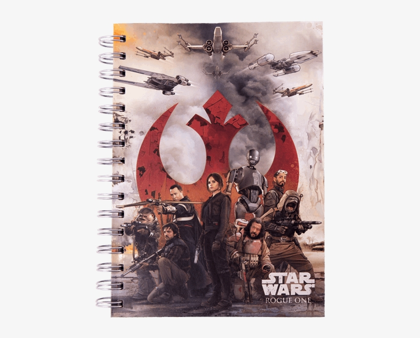 Rogue One Choose A Side A5 Spiral Notebook - Rogue One Movie Posters Original Best Star Wars Posters, transparent png #8902467