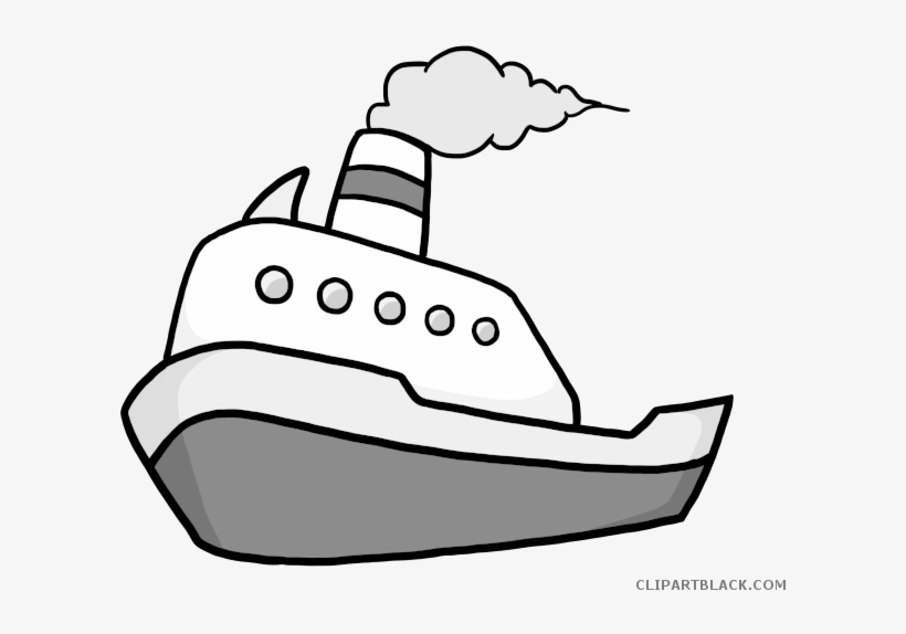 Fishing Boat Clipart Black And White Boat Clip Art Free Transparent Png Download Pngkey