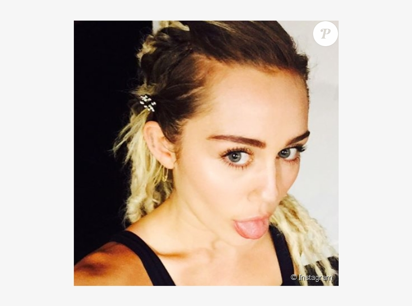 Miley Cyrus Dévoile Sa Nouvelle Coupe De Cheveux Sur - Nicki Minaj Puta, transparent png #8908795