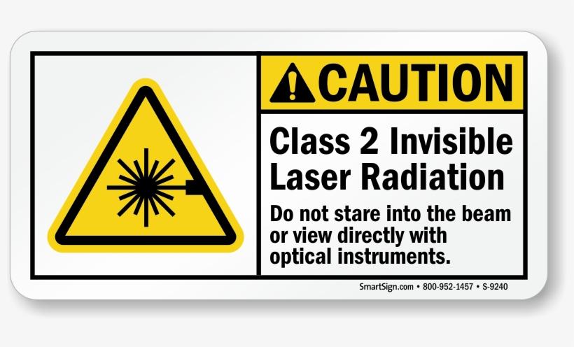 800 X 416 3 - Class 2 Laser Sign, transparent png #8913392