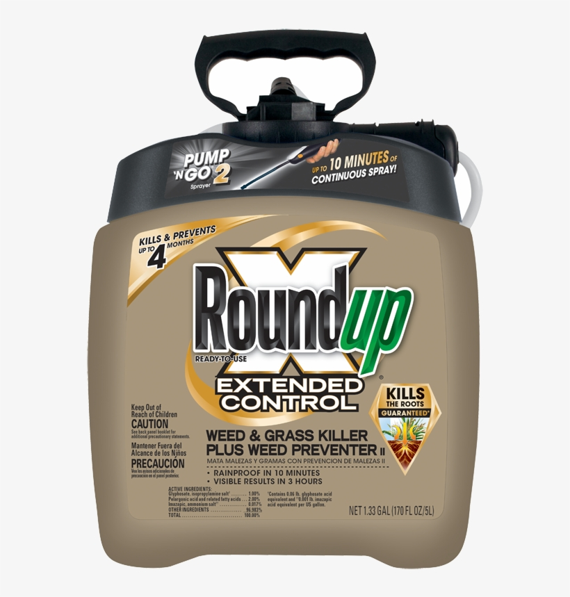 Roundup Ready To Use Extended Control Weed And Grass - Roundup Weed Killer, transparent png #8916855
