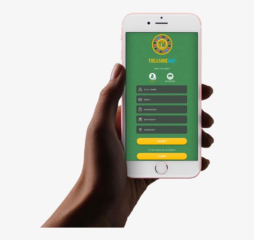 Treasure Map Application - Apple Iphone 6s Plus 64 Go Rose Gold Gsm, transparent png #8918559