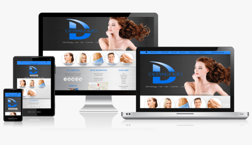 Responsive Medical Website Design Is The Recommended - Responsive Design Medical Website Png, transparent png #8923863