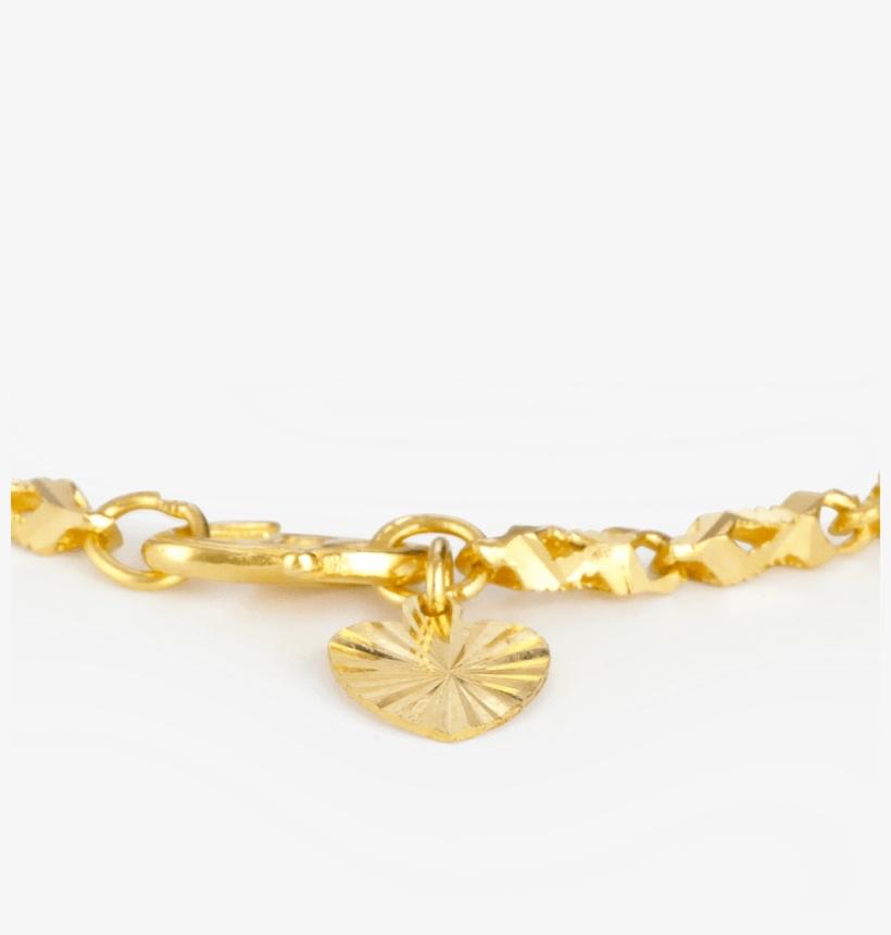 3e6c0e8974353 22ct Indian Gold Heart Charm Ladies Bracelet - Necklace - Free ...