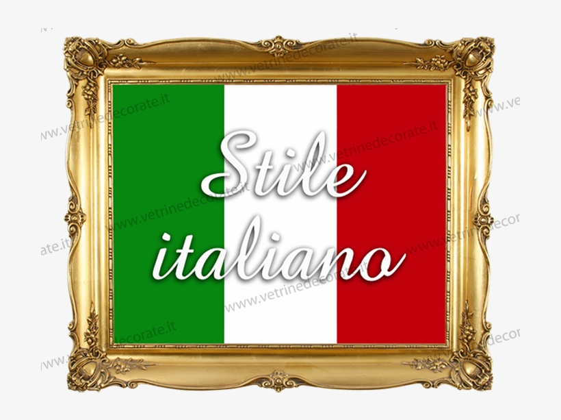 Golden Frame With Italian Style On Shop Window - Old Picture Frame Png, transparent png #8937937