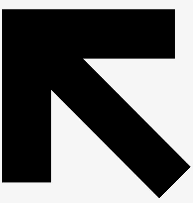 Png File Svg - Arrow Pointing Left Corner, transparent png #8941842