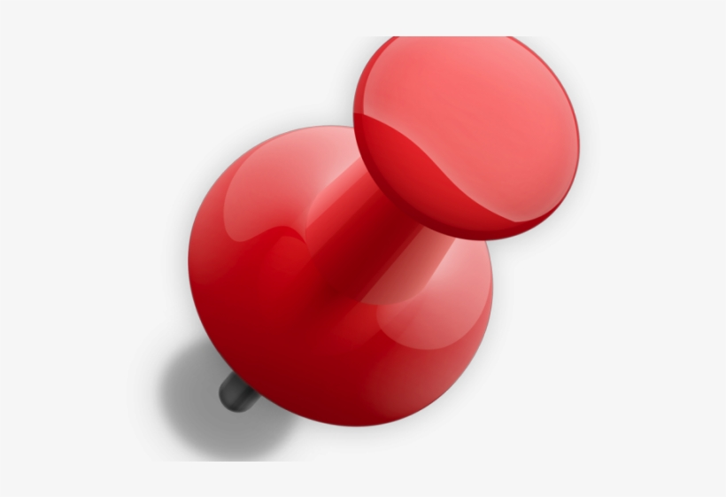 Red Push Pin - Push Pin Pin Png, transparent png #8943799