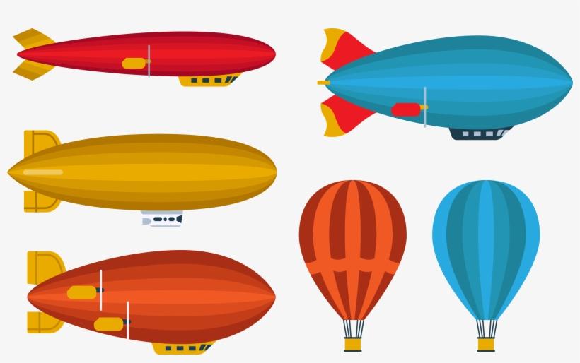Blimp Vector Clip Art - Rigid Airship, transparent png #8944250