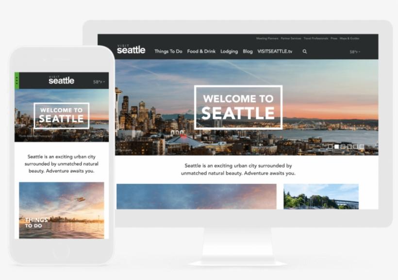 Visit Seattle Case Study - Visit Our Website Design, transparent png #8944343