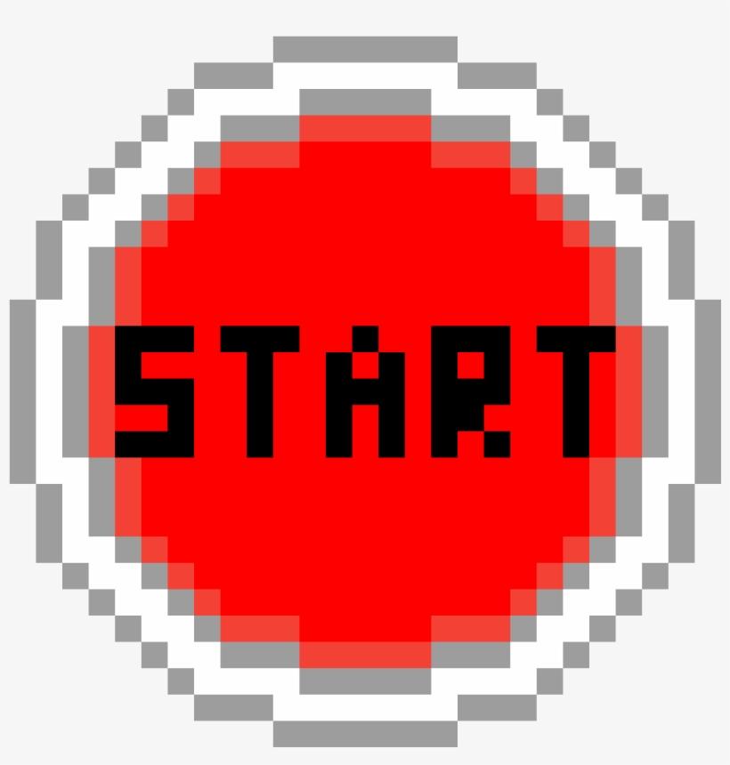 Start Button - Epic Face Pixel Art, transparent png #8949199