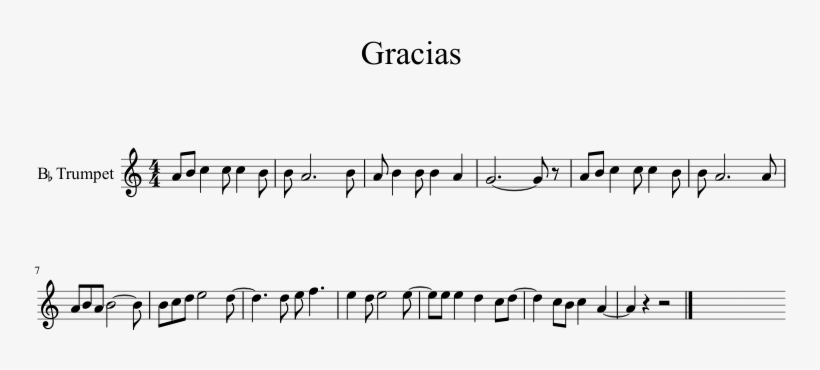 Gracias Sheet Music 1 Of 1 Pages - Love The Same Man Over And Over Again, transparent png #8952827