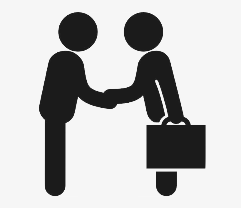 Business Icon Reversed - Business To Business Icon, transparent png #8953481