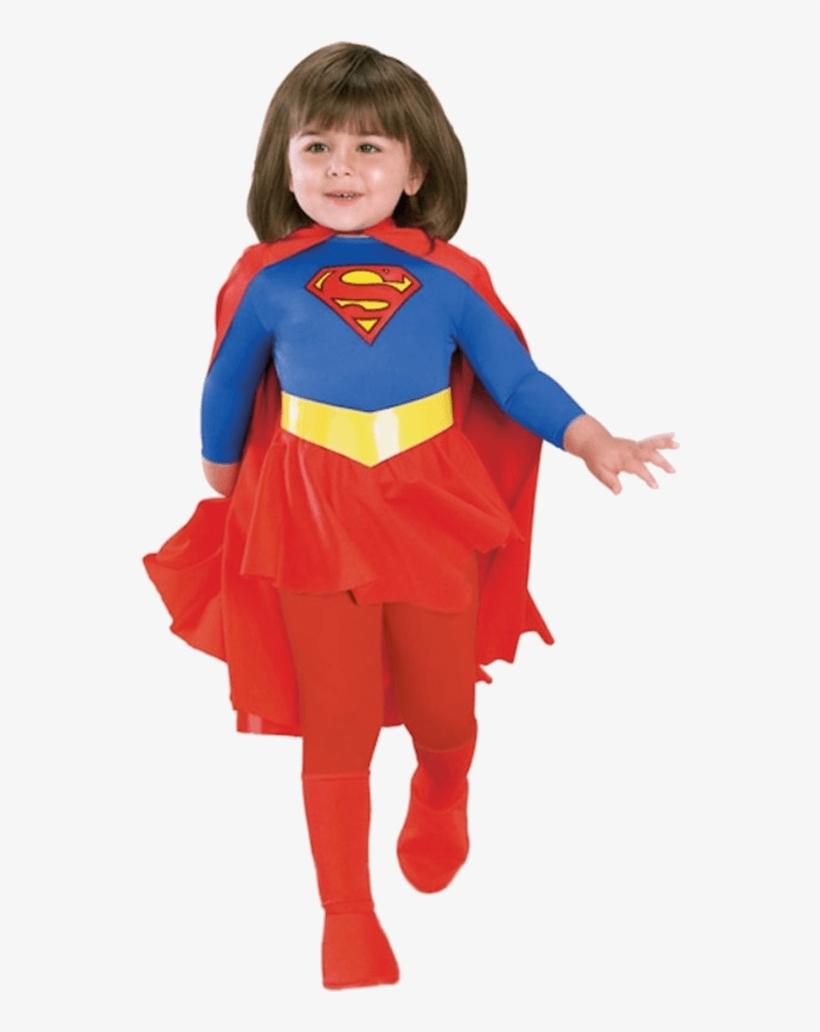 Child Supergirl Super Hero Costume - Super Girl Costume For Kids, transparent png #8957369