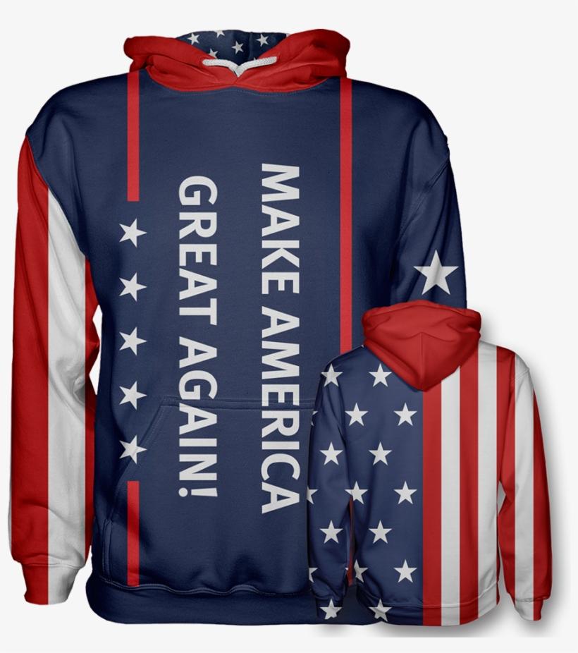 Make America Great Again Hoodie - Make America Great Again Swimsuit, transparent png #8959303