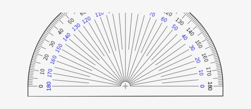 It is a photo of Protractor Printable inside free printable
